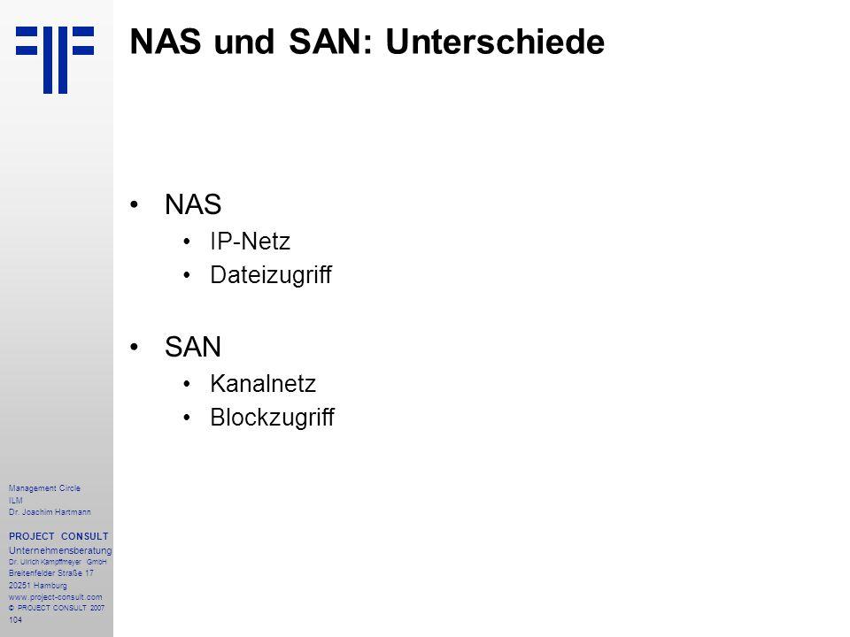 NAS und SAN: Unterschiede