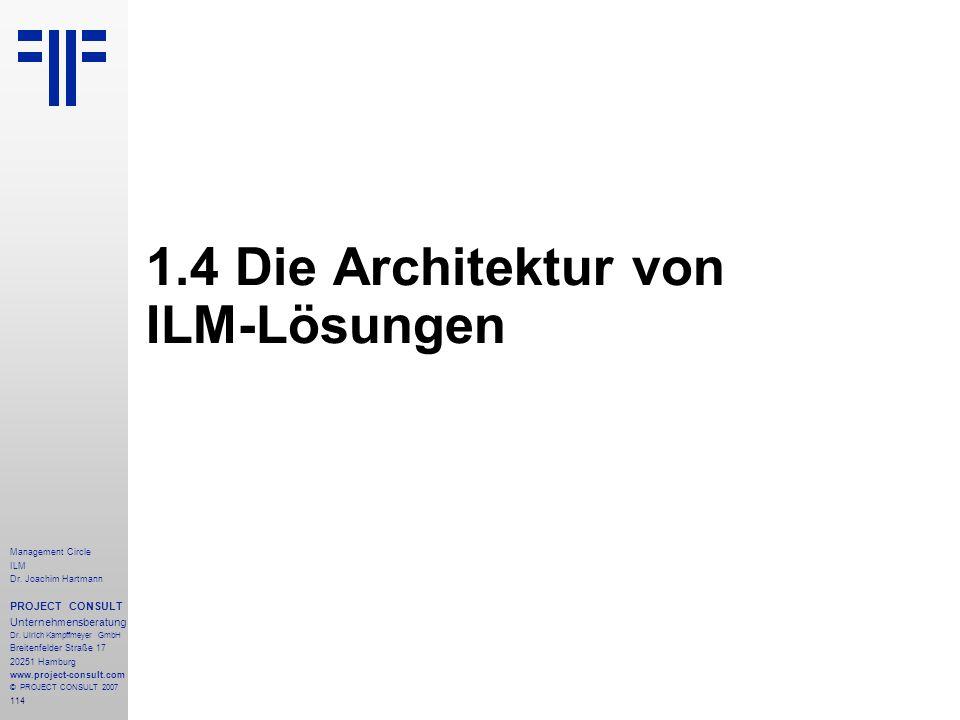 1.4 Die Architektur von ILM-Lösungen