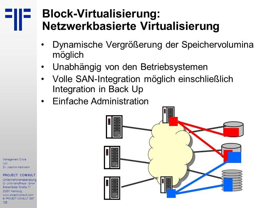 Block-Virtualisierung: Netzwerkbasierte Virtualisierung