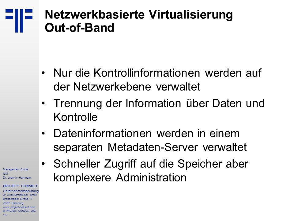 Netzwerkbasierte Virtualisierung Out-of-Band