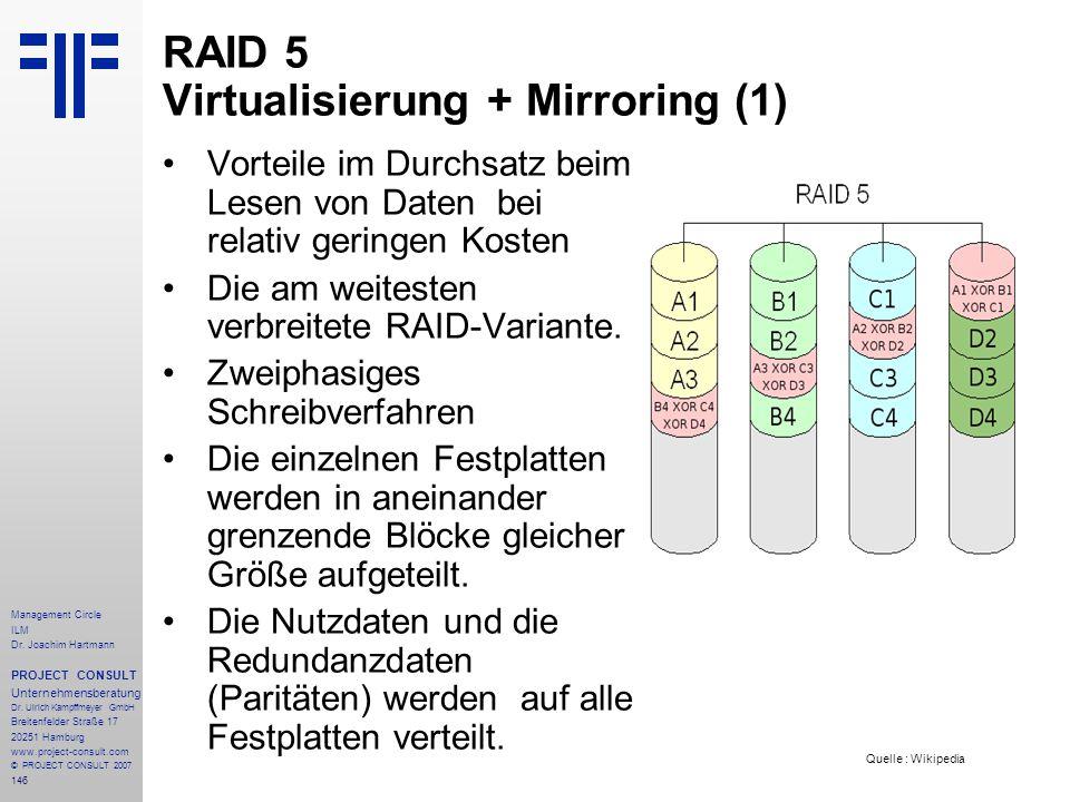 RAID 5 Virtualisierung + Mirroring (1)