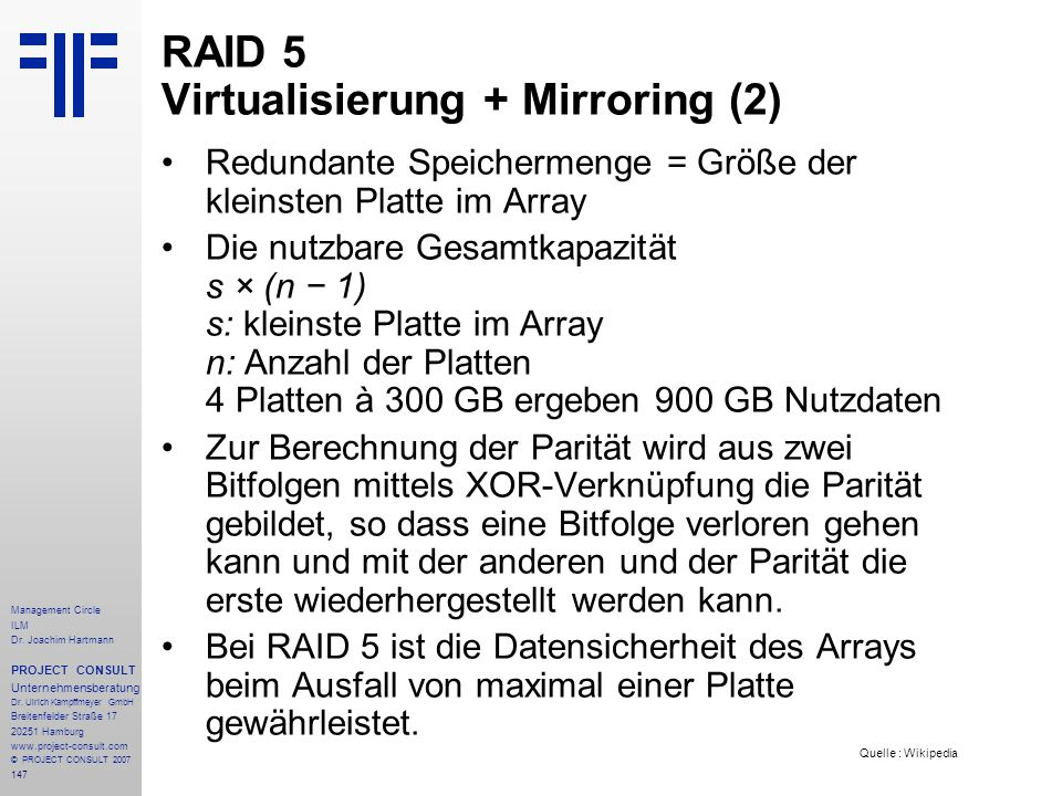 RAID 5 Virtualisierung + Mirroring (2)