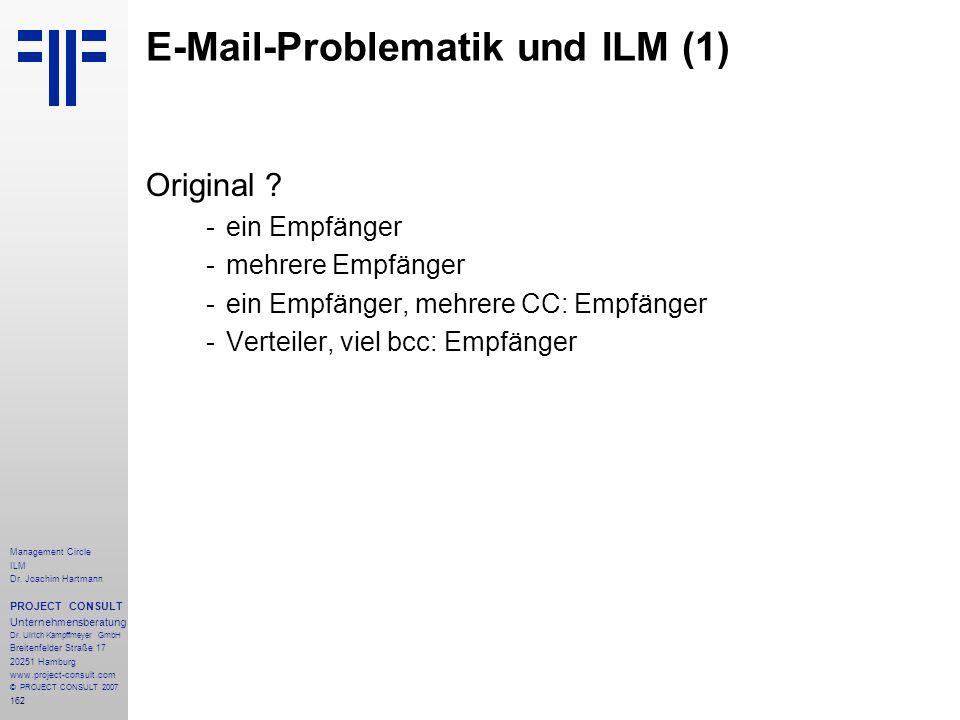 E-Mail-Problematik und ILM (1)
