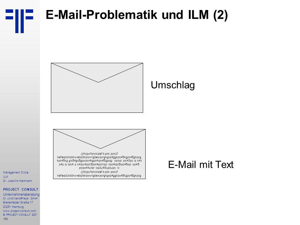 E-Mail-Problematik und ILM (2)