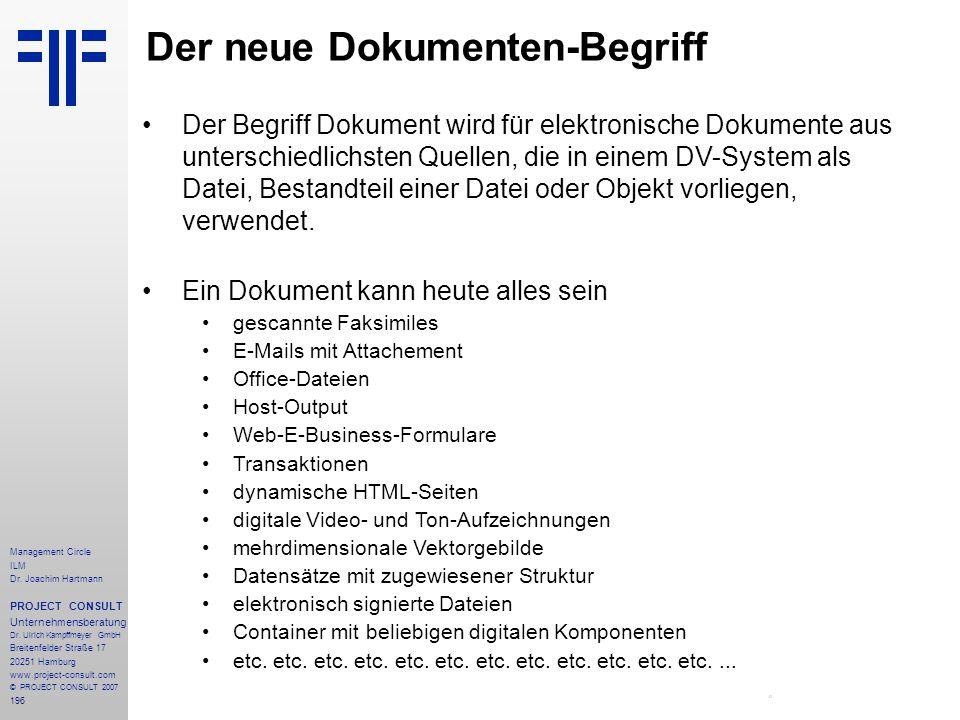 Der neue Dokumenten-Begriff