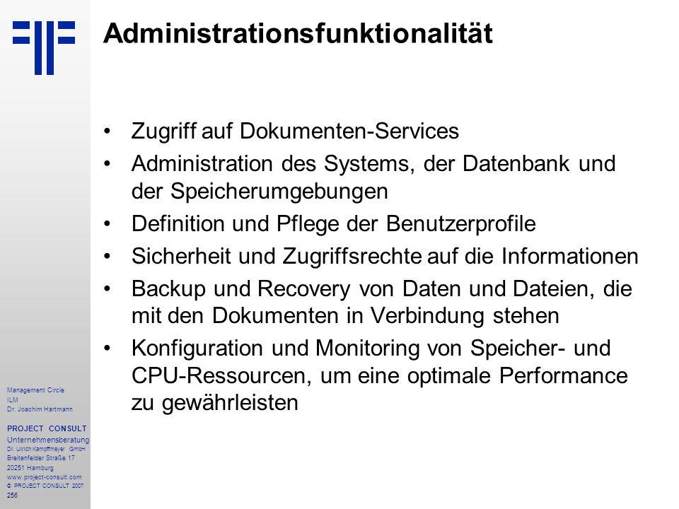Administrationsfunktionalität