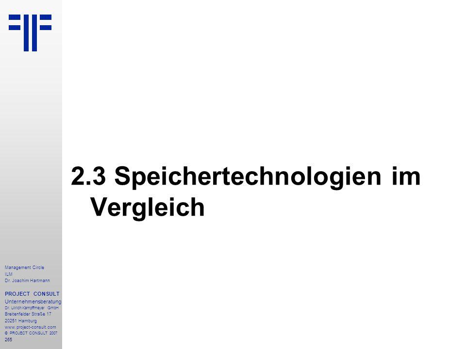 2.3 Speichertechnologien im Vergleich