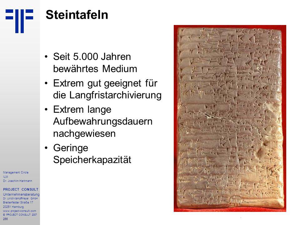 Steintafeln Seit 5.000 Jahren bewährtes Medium