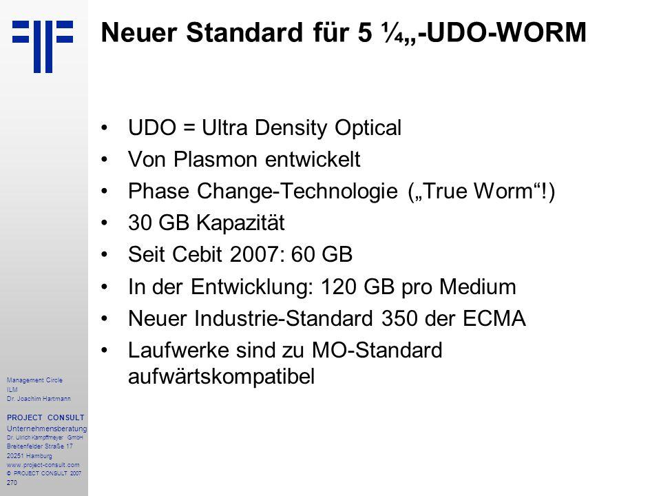 """Neuer Standard für 5 ¼""""-UDO-WORM"""