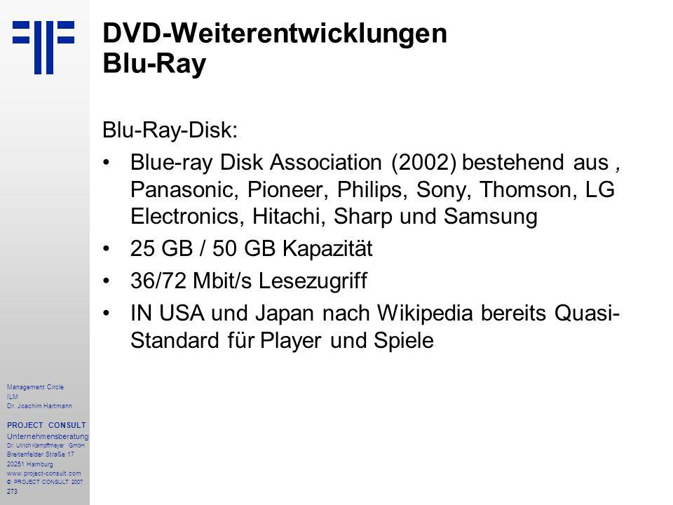 DVD-Weiterentwicklungen Blu-Ray