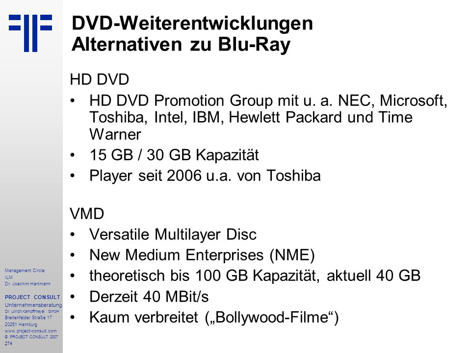 DVD-Weiterentwicklungen Alternativen zu Blu-Ray