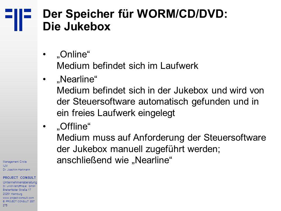 Der Speicher für WORM/CD/DVD: Die Jukebox