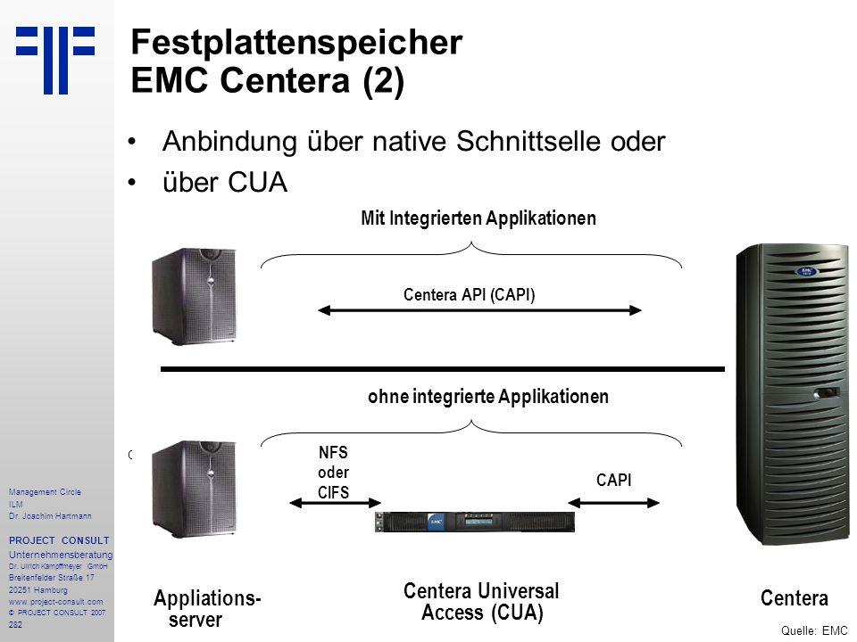 Festplattenspeicher EMC Centera (2)