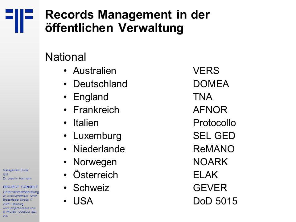 Records Management in der öffentlichen Verwaltung