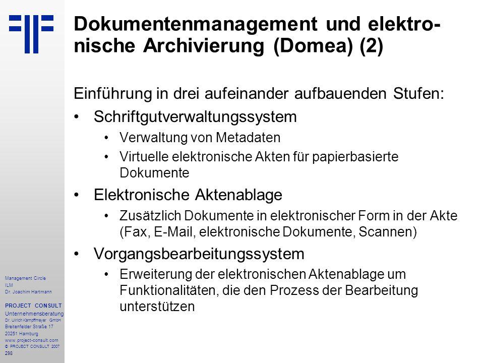 Dokumentenmanagement und elektro-nische Archivierung (Domea) (2)