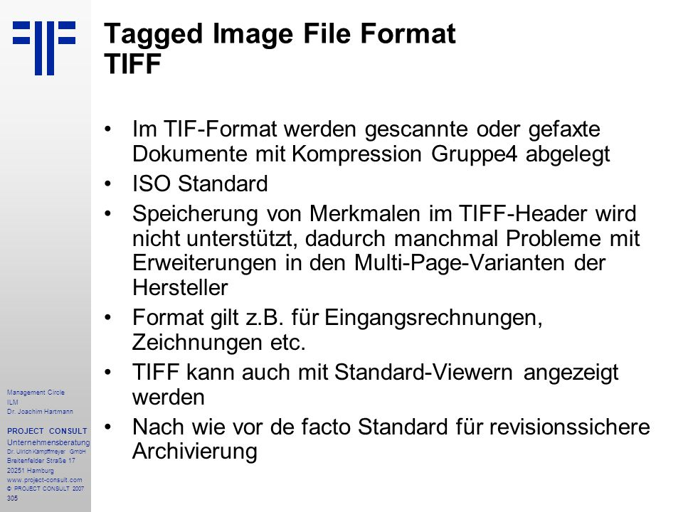 Tagged Image File Format TIFF
