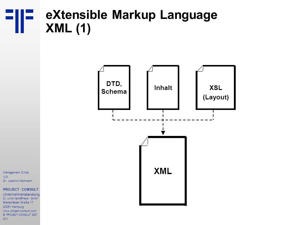 eXtensible Markup Language XML (1)
