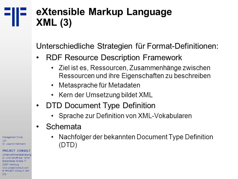 eXtensible Markup Language XML (3)