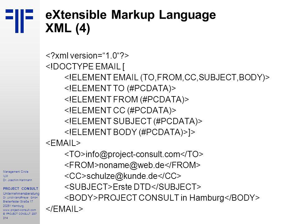 eXtensible Markup Language XML (4)