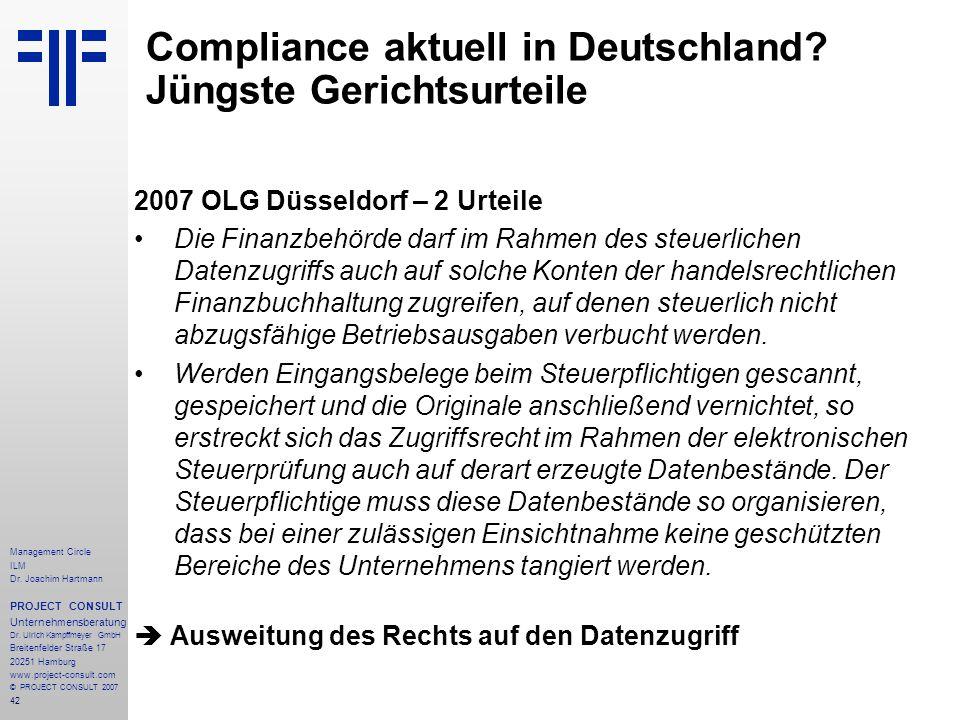 Compliance aktuell in Deutschland Jüngste Gerichtsurteile