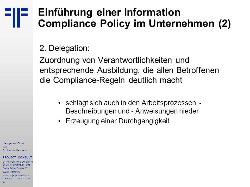Einführung einer Information Compliance Policy im Unternehmen (2)