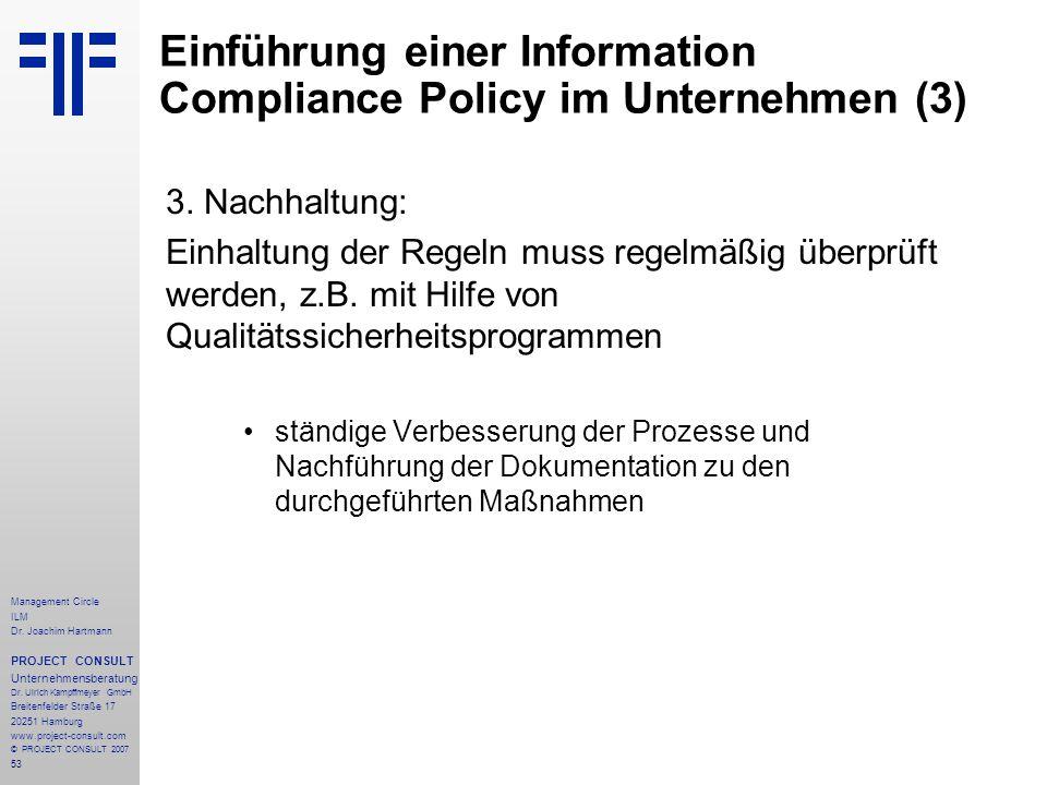Einführung einer Information Compliance Policy im Unternehmen (3)
