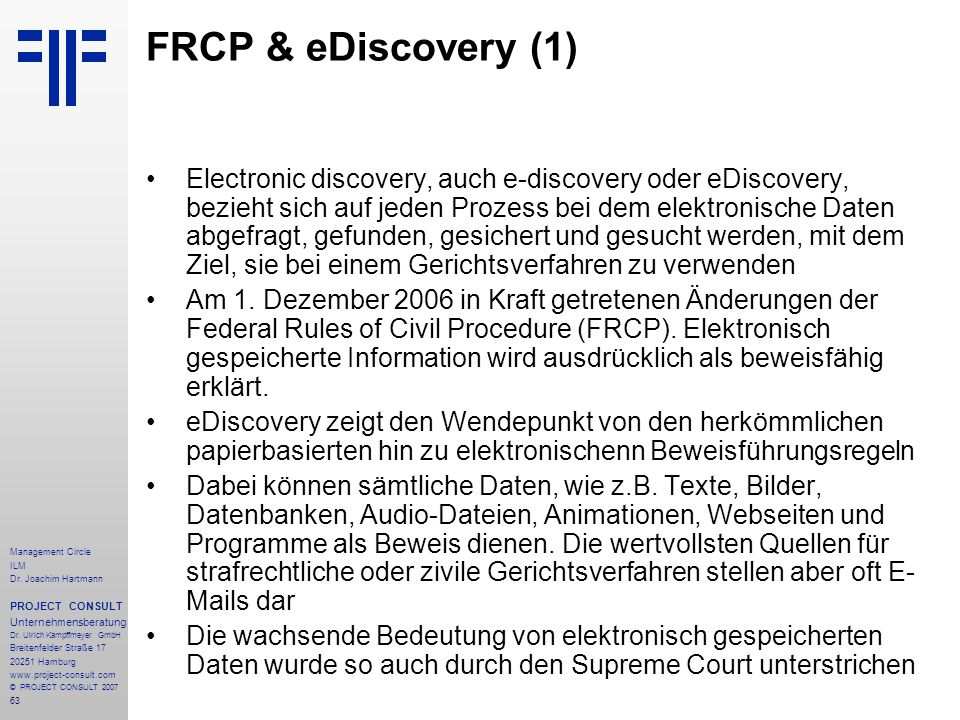 FRCP & eDiscovery (1)