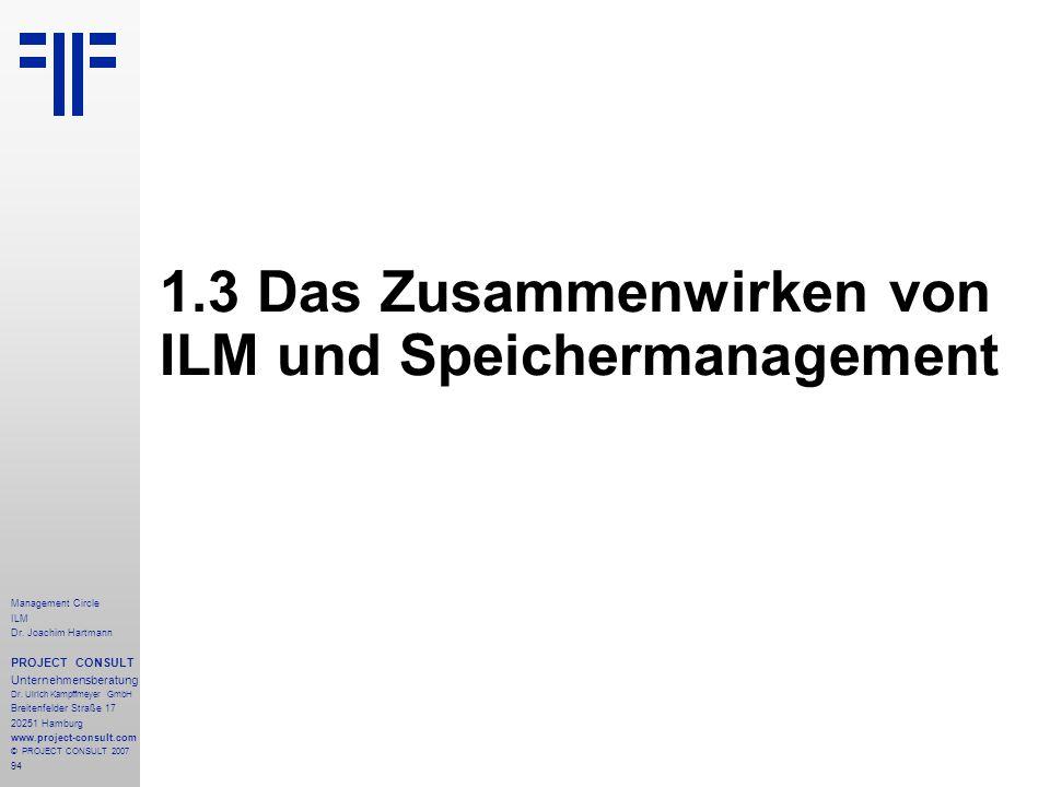 1.3 Das Zusammenwirken von ILM und Speichermanagement