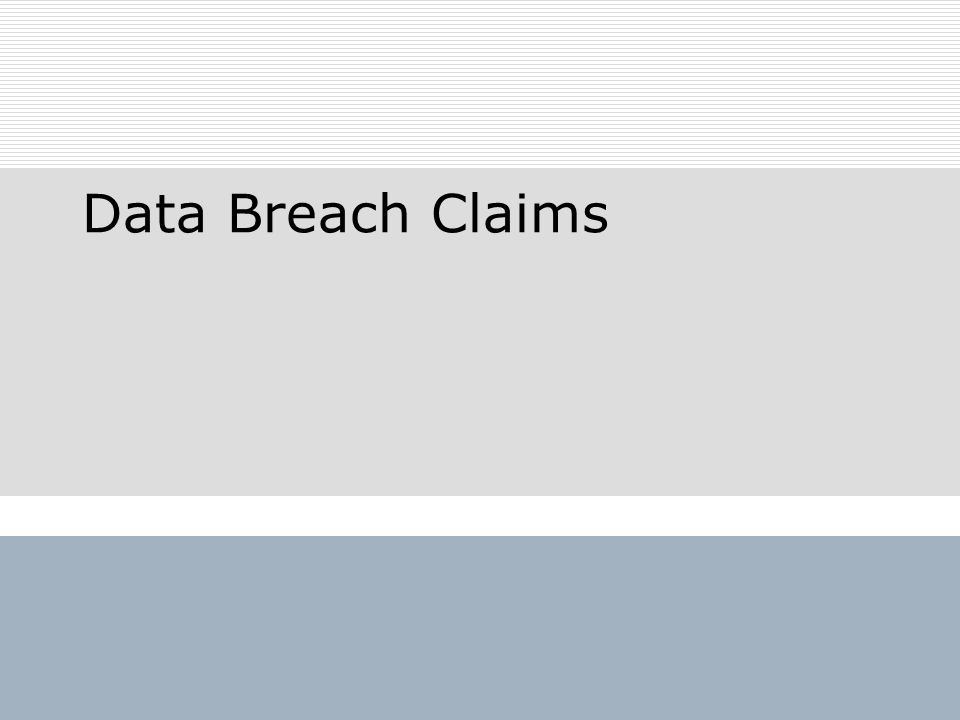 Data Breach Claims