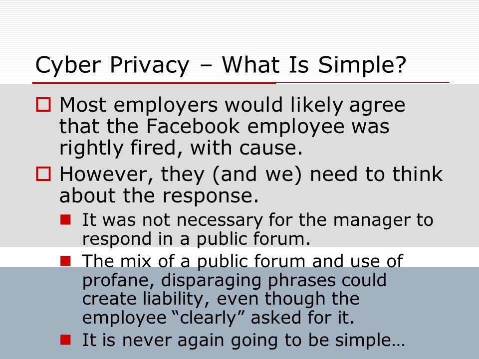 Cyber Privacy – What Is Simple