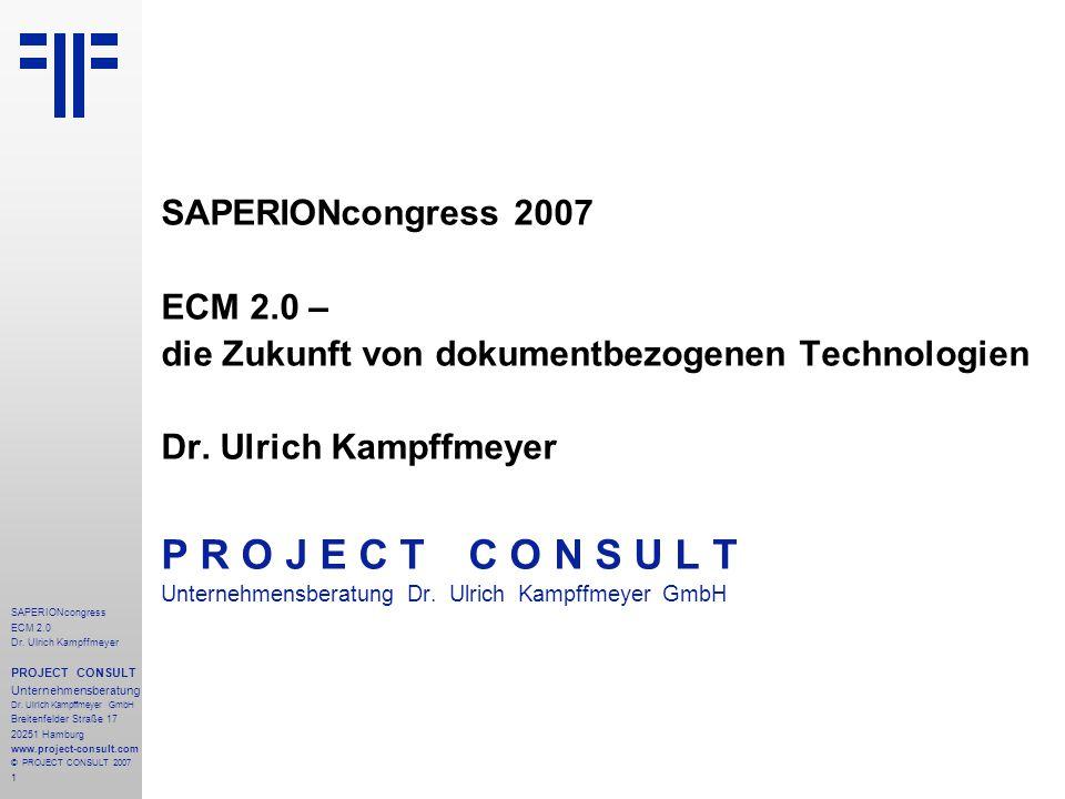 P R O J E C T C O N S U L T SAPERIONcongress 2007 ECM 2.0 –
