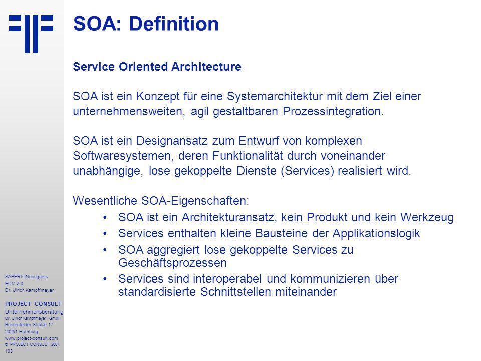 SOA: Definition Service Oriented Architecture