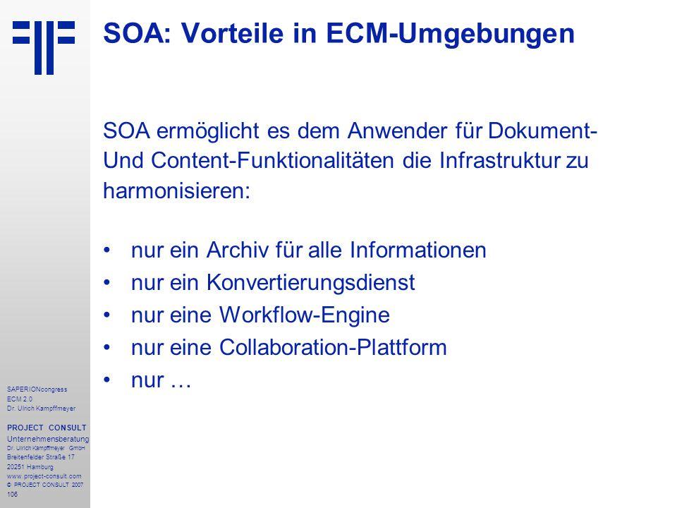 SOA: Vorteile in ECM-Umgebungen