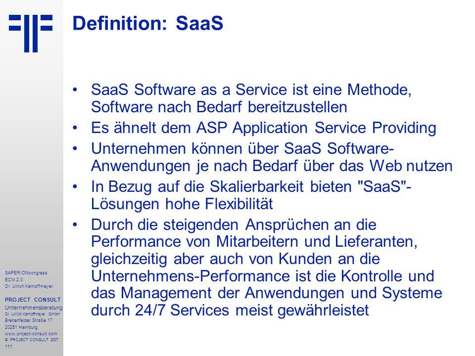 Definition: SaaS SaaS Software as a Service ist eine Methode, Software nach Bedarf bereitzustellen.