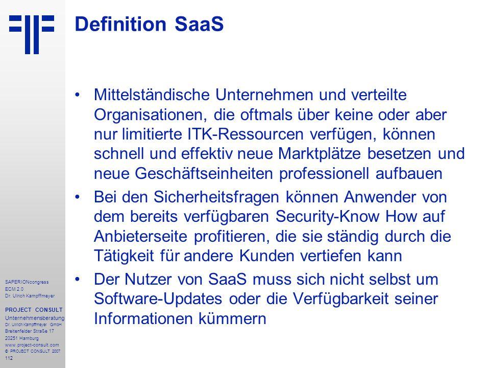 Definition SaaS