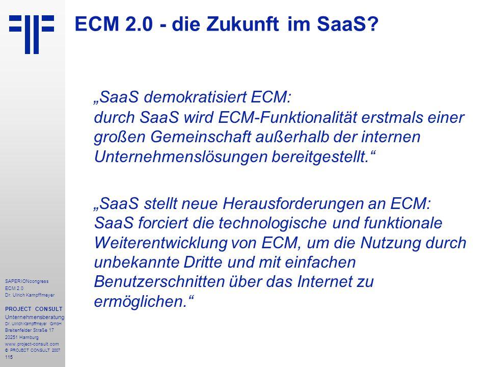 ECM 2.0 - die Zukunft im SaaS