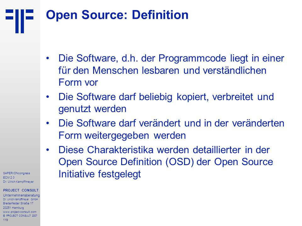 Open Source: Definition