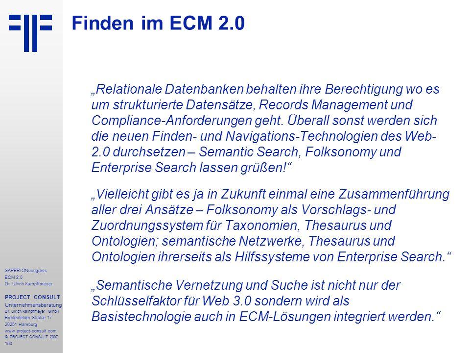 Finden im ECM 2.0