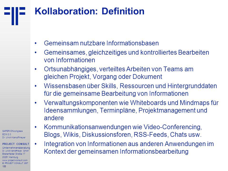Kollaboration: Definition