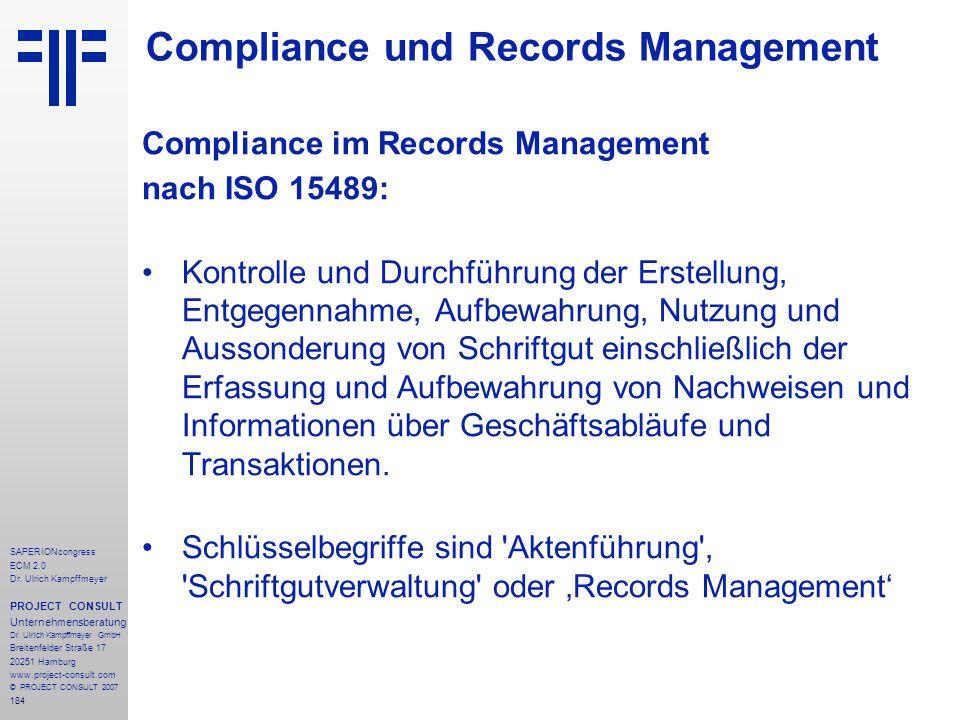 Compliance und Records Management