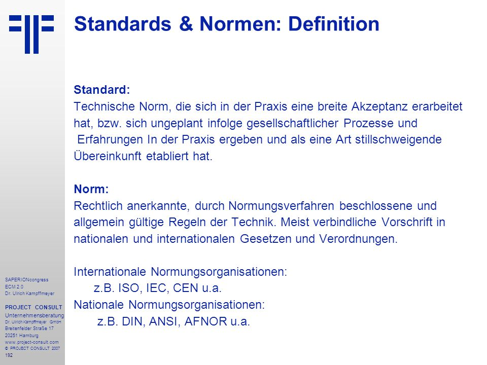 Standards & Normen: Definition