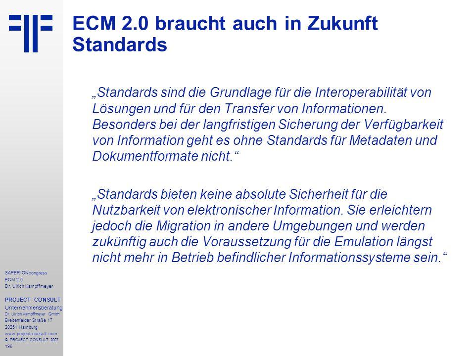 ECM 2.0 braucht auch in Zukunft Standards