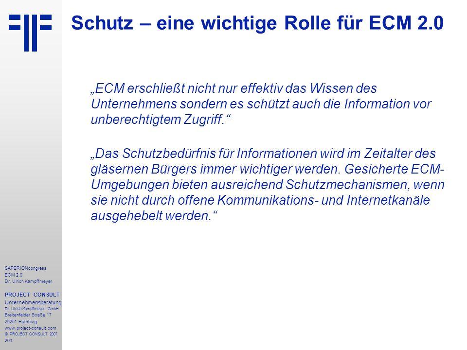 Schutz – eine wichtige Rolle für ECM 2.0