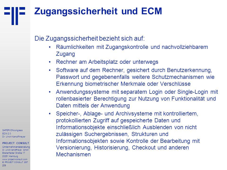 Zugangssicherheit und ECM