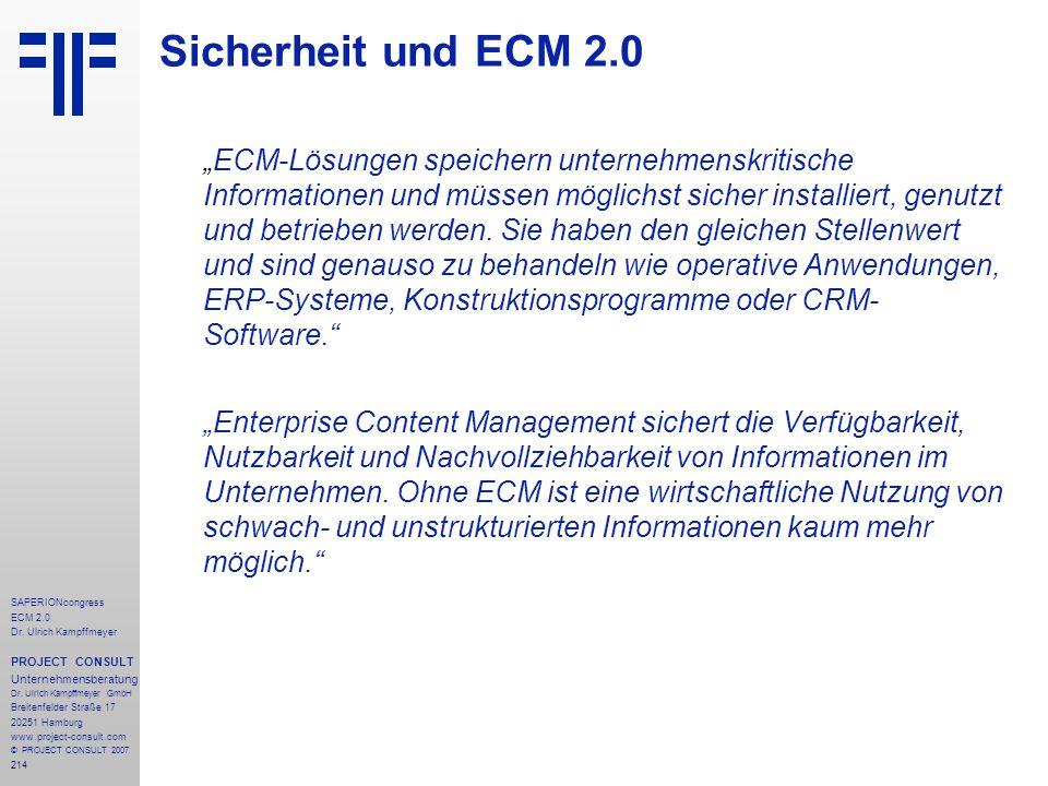 Sicherheit und ECM 2.0