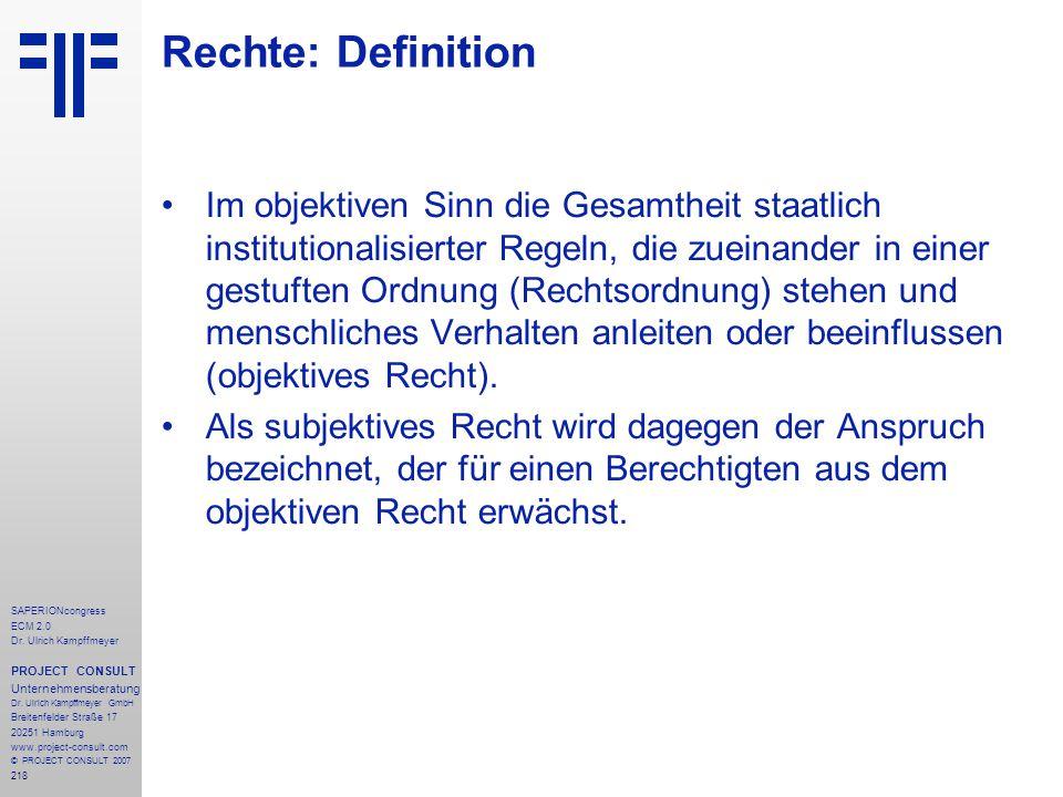 Rechte: Definition