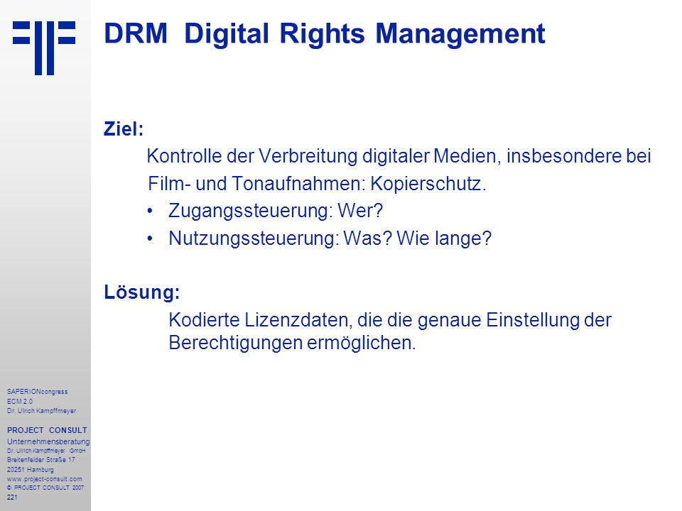 DRM Digital Rights Management