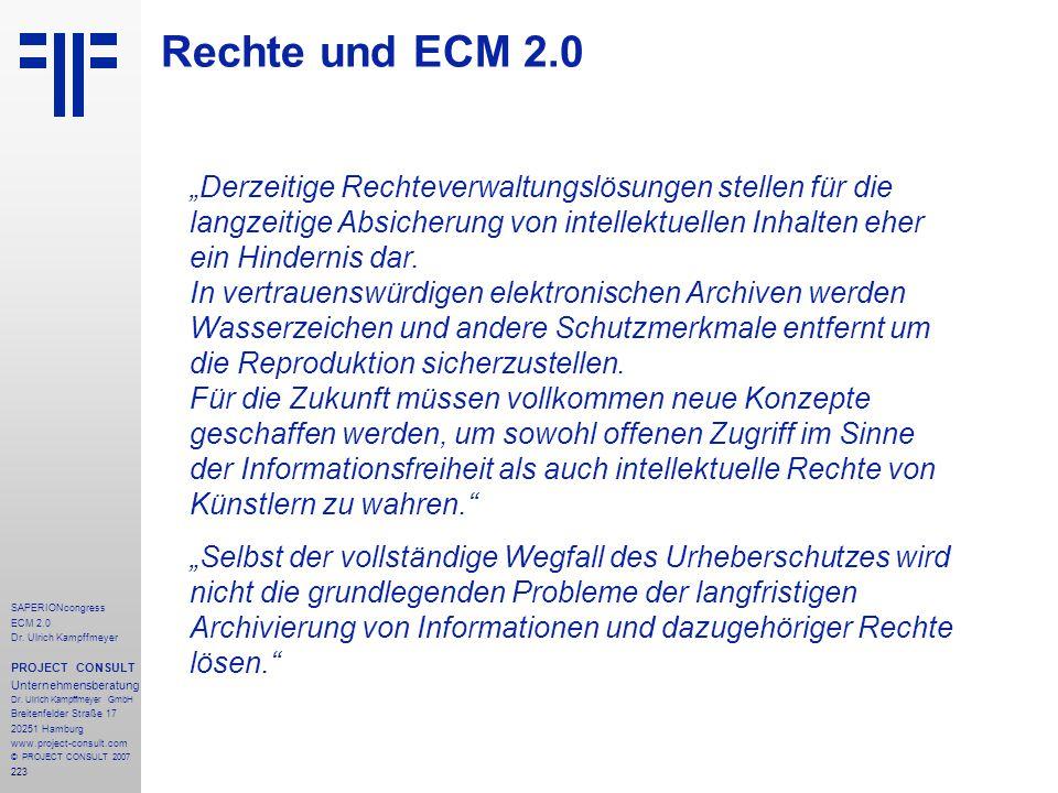 Rechte und ECM 2.0