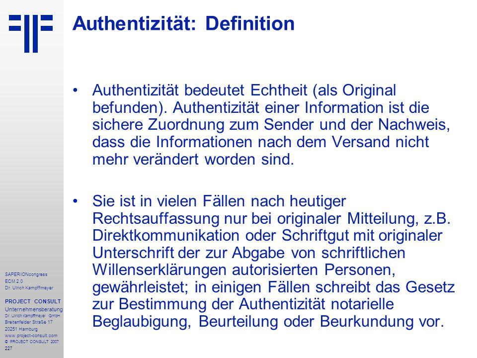 Authentizität: Definition