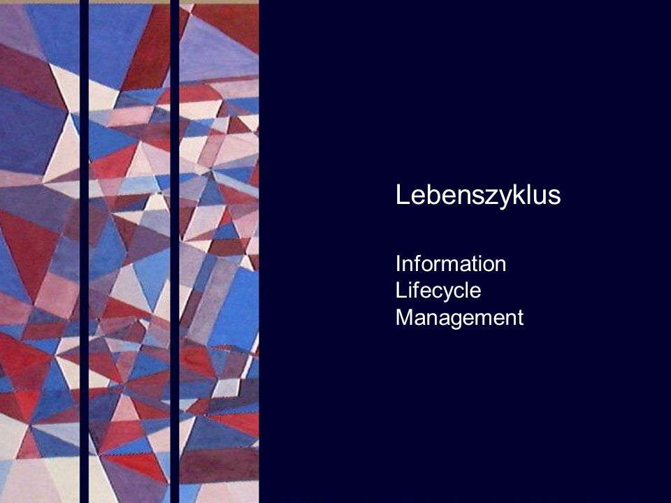 Lebenszyklus Information Lifecycle Management PROJECT CONSULT